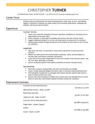 customer service resume templates customer service representative cv exle for retail livecareer