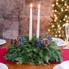 Christmas Table Decoration With Candles by Blueberry Holiday Centerpiece Fresh Centerpiece