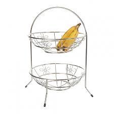 tiered fruit basket howards storage world fruit basket 2 tier