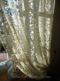 Cream Lace Net Curtains Olga U0027 Custom Order Cream Color Vintage Looking By Spiritofmyhome