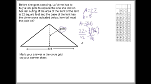 Ged Worksheets Using Triangle Properties On Ged Math Word Problems Youtube