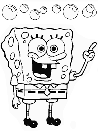 spongebob printouts kids coloring