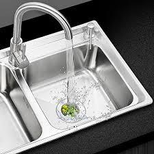 Stainless Steel Kitchen Sink Strainer - 2pcs stainless steel kitchen sink strainer u2013 large wide rim 4 5