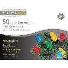 energy star led c9 lights shop ge 50 count led c9 multicolor christmas string lights energy