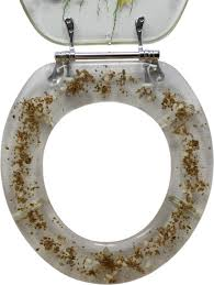 Decorative Toilet Seat Seahorse Design Standard Round