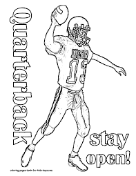 football player coloring pages free printable football coloring