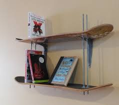 skateboard bookshelf 7 steps with pictures