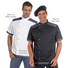 veste de cuisine homme noir veste de cuisine manches courtes boutons pression style tendance