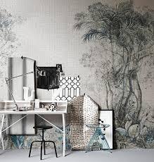 wohnzimmer tapeten landhausstil tapeten für puristen muster in grau weiß und schwarz schöner