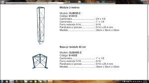 Fabuloso Torre estaiada- Medidas ferragens/ espesuras &ZA47