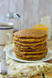 vegan carrot cake pancakes fork and beans