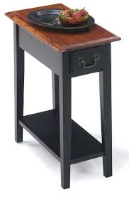 small table with shelves small end tables small end table with drawer and shelf brown cherry