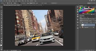 speeding car scene in photoshop