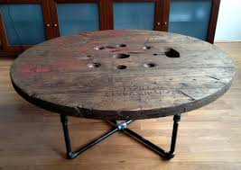 outdoor tables made out of wooden wire spools cable spool moonova home