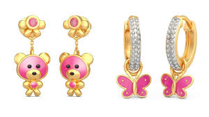 gold earrings for kids kids gold earrings