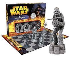star wars chess sets star wars saga edition chess set amazon co uk toys games