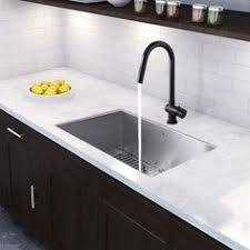 black faucet with stainless steel sink vigo milburn single handle pull down spray kitchen faucet stainless