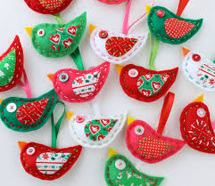 felt bird ornaments plush embroidery jodie flickr