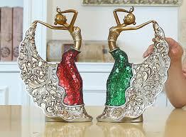 2pcs european ballet sculpture peacock ornaments creative home