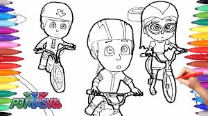 pj masks coloring pages for kids how to draw and color pj masks