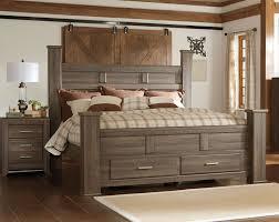 elegant king size bed frame with storage drawer oak wood in frames