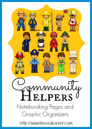 community helpers matching worksheets in these kids draw a line