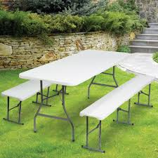 Carrefour Table Pliante by Table Pliante Portable 180 Cm Et 2 Bancs Pliables Pour Camping Buff