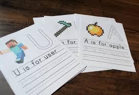 free printable minecraft handwriting practice worksheets u2013 pepper