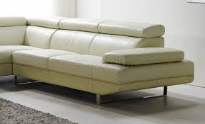 Mid Century Modern Sectional Sofas by White Top Grain Full Leather Modern Sectional Sofa