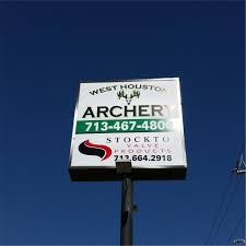 used outdoor lighted signs for business outdoor signs for business cheap west houston archery gets new