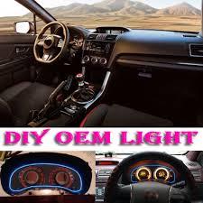 subaru decals car atmosphere light flexible neon light el wire interior light