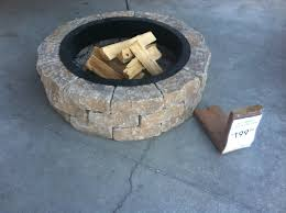 Stone Fire Pit Kit by Lowe U0027s Fire Pit Kit 199 Outdoors Pinterest Patios Yards