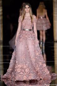 2017 new couture zuhair murad evening dresses 3d floral appliques