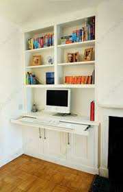 Bookshelves And Desk Built In by This Is A Genius Idea With The Pull Out Desk As It Means You Could