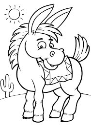 coloring pages donkey eson me