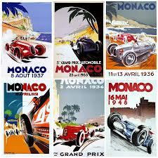 graphic design monaco grand prix and car posters