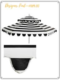 Fringed Patio Umbrella by High Low Options Black U0026 White Outdoor Umbrella Confettistyle