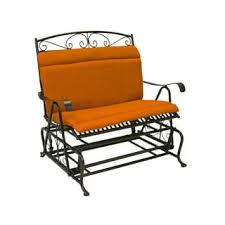 blazing needles outdoor double glider bench seat back cushion