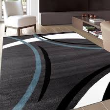 Round Area Rugs Contemporary by Amazon Com Rug Decor Contemporary Modern Wavy Circles Area Rug 5