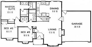 plan 1182 ranch style small house plan for wide shallow lot
