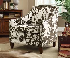Microfiber Accent Chair Brown White Cow Print Accent Chair Caravana Furniture