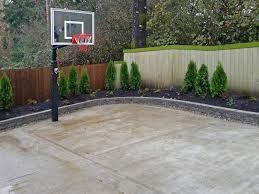 backyards ergonomic basketball court backyard cost with single