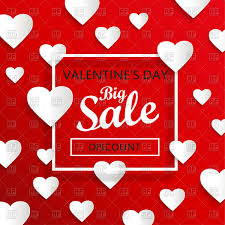 valentines day big sale abstract background with hearts