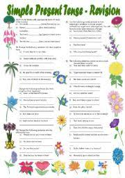 simple present tense exercises fully editable with key
