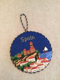 spain ornament canvas by silver needle needlepoint
