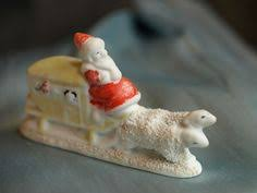 Vintage Christmas Cake Decorations Reindeer by Vintage Christmas German Bisque Snow Baby Or Cake Topper Bell