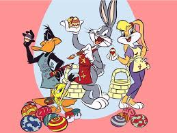 coloring easter eggs bugs bunny and lola bunny cartoon looney