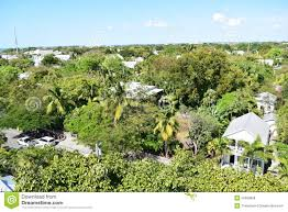 aerial view of ernest hemingway u0027s house in key west stock photo