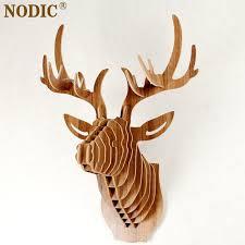 deer home decor nodic deer head home decoration wall art diy wooden craft wall