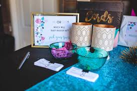 reveal baby shower kara s party ideas geometric gender reveal baby shower via kara s